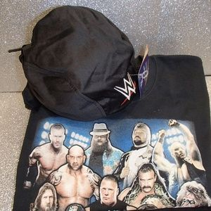 WWE T-shirt (Lg) w/ Deluxe Cloth Hat